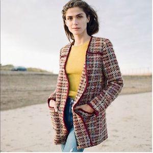 Anthropologie Ett Twa Harlequin Tweed Blazer
